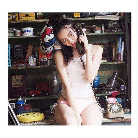 江野沢愛美 ヤングジャンプの水着Bカップ谷間&全開腋 画像24枚 10
