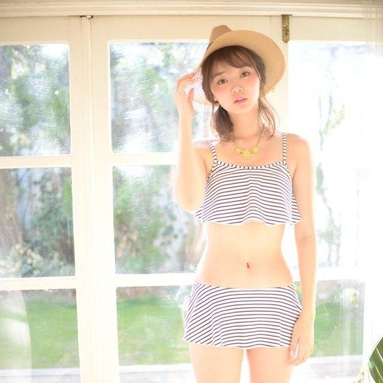 江野沢愛美 ヤングジャンプの水着Bカップ谷間&全開腋 画像24枚 14