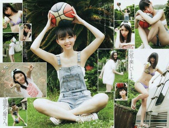 江野沢愛美 ヤングジャンプの水着Bカップ谷間&全開腋 画像24枚 2