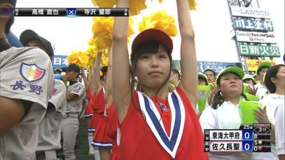 高校球児を応援する女子校生チアガールのおっぱいと腋キャプ 画像30枚 10