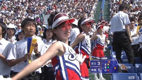 高校球児を応援する女子校生チアガールのおっぱいと腋キャプ 画像30枚 12