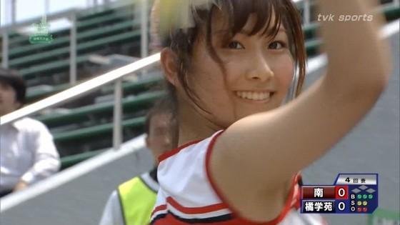 高校球児を応援する女子校生チアガールのおっぱいと腋キャプ 画像30枚 15