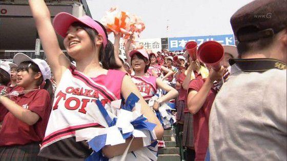 高校球児を応援する女子校生チアガールのおっぱいと腋キャプ 画像30枚 8