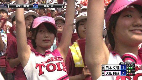 高校球児を応援する女子校生チアガールのおっぱいと腋キャプ 画像30枚 9