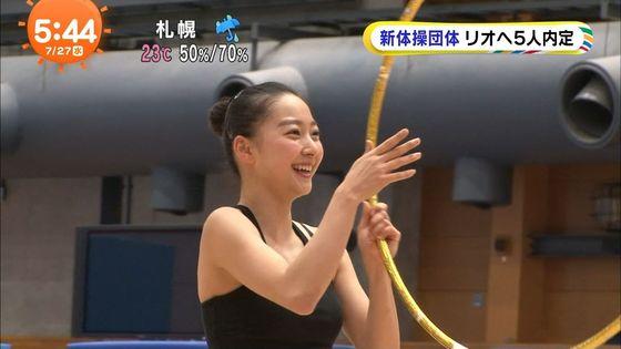 畠山愛理 全開腋を披露した新体操フェアリージャパンキャプ 画像24枚 15