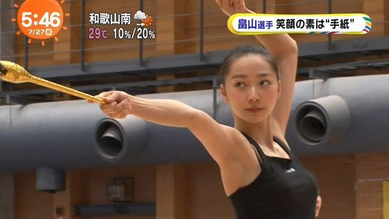 畠山愛理 全開腋を披露した新体操フェアリージャパンキャプ 画像24枚 21