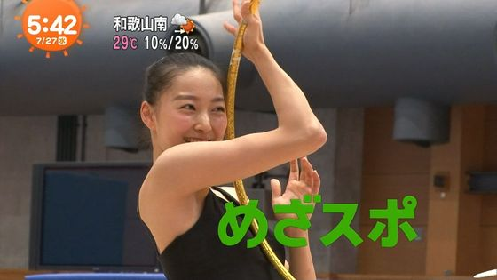 畠山愛理 全開腋を披露した新体操フェアリージャパンキャプ 画像24枚 6