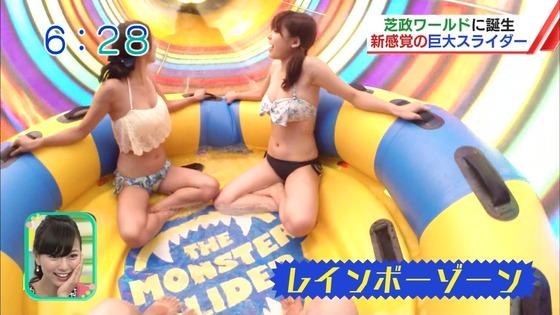 松田栞 プールロケのCカップ水着姿&股間キャプ 画像30枚 10