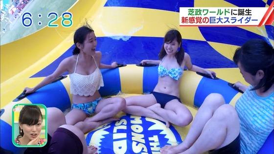松田栞 プールロケのCカップ水着姿&股間キャプ 画像30枚 12