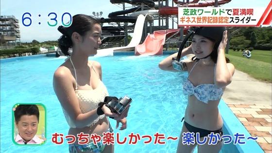 松田栞 プールロケのCカップ水着姿&股間キャプ 画像30枚 20