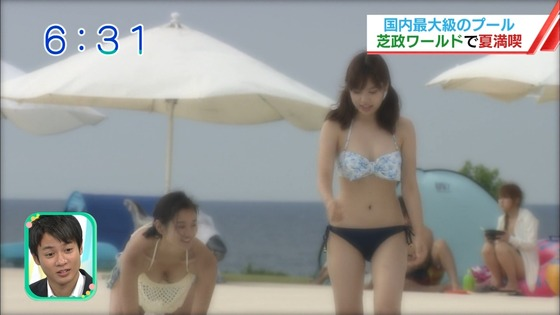 松田栞 プールロケのCカップ水着姿&股間キャプ 画像30枚 22