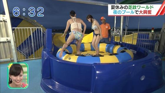 松田栞 プールロケのCカップ水着姿&股間キャプ 画像30枚 28
