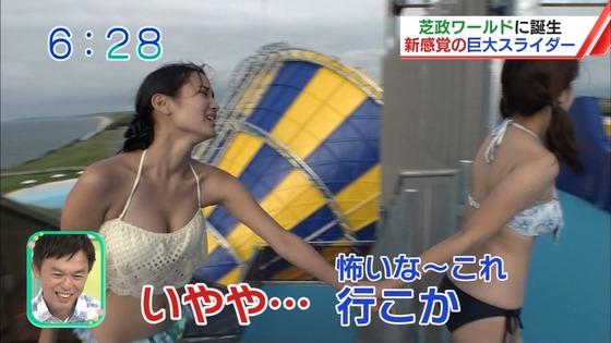 松田栞 プールロケのCカップ水着姿&股間キャプ 画像30枚 7