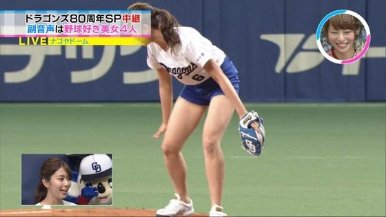 稲村亜美 太ももと美脚を披露したナゴヤドーム始球式キャプ 画像28枚 19