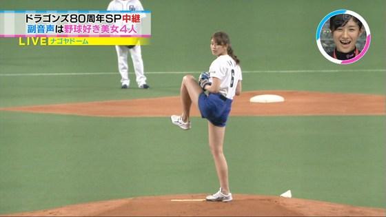 稲村亜美 太ももと美脚を披露したナゴヤドーム始球式キャプ 画像28枚 20