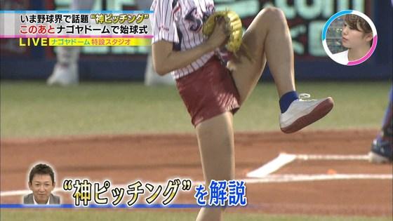 稲村亜美 太ももと美脚を披露したナゴヤドーム始球式キャプ 画像28枚 5