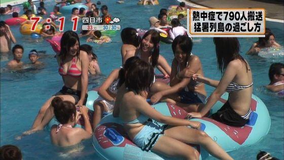 テレビ番組の海水浴ロケで映った水着素人の巨乳キャプ 画像29枚 18