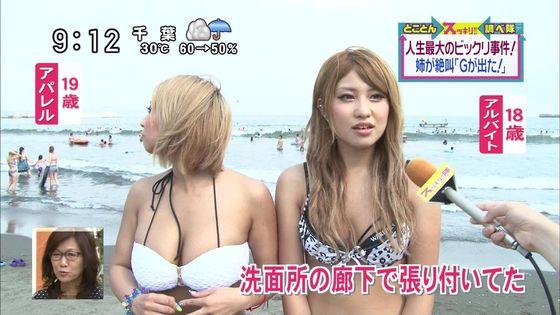 テレビ番組の海水浴ロケで映った水着素人の巨乳キャプ 画像29枚 8