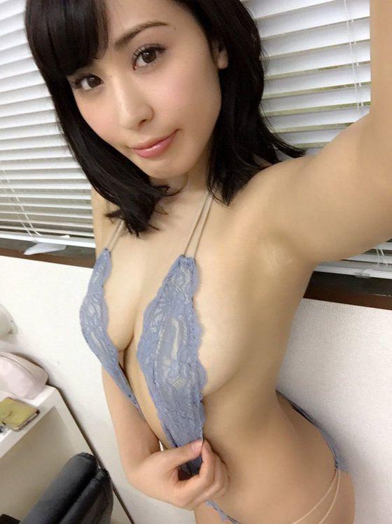 金子智美 変態競泳水着のFカップハミ乳自画撮り 画像51枚 4