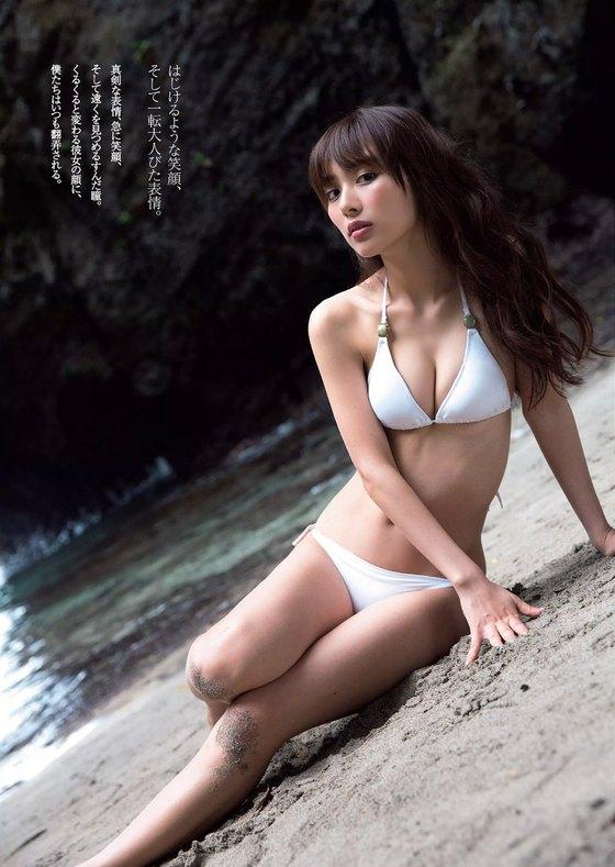 内田理央 週プレの水着姿Cカップ谷間&美尻グラビア 画像25枚 3