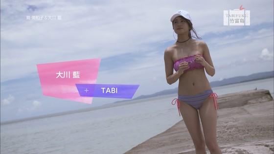 筧美和子 タビフク。の大川藍との巨乳水着姿キャプ 画像30枚 3