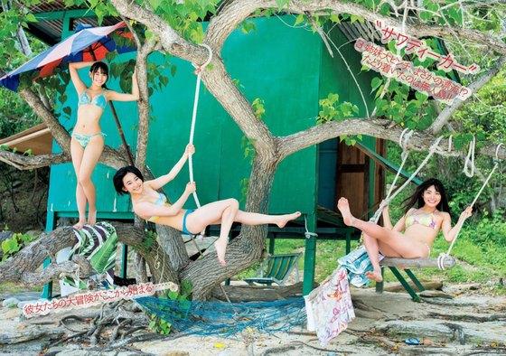 浅川梨奈 月刊ヤンマガの水着姿Eカップ谷間最新グラビア 画像33枚 9