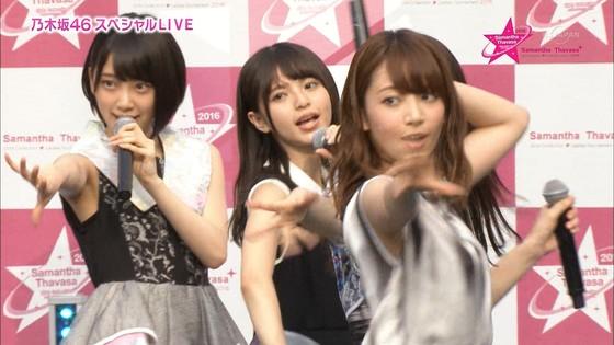 乃木坂46 野外ライブのノースリーブ全開腋キャプ 画像19枚 20