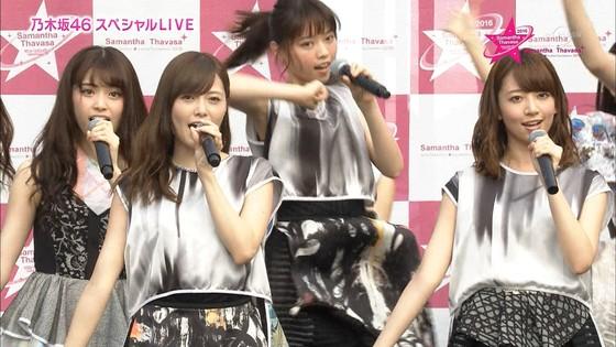 乃木坂46 野外ライブのノースリーブ全開腋キャプ 画像19枚 25