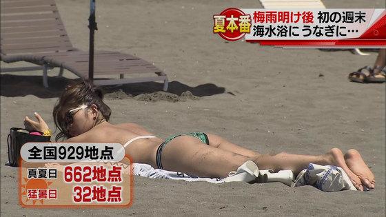 ビーチの水着姿ギャルが映ったテレビ番組キャプ 画像32枚 18