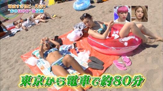 ビーチの水着姿ギャルが映ったテレビ番組キャプ 画像32枚 2