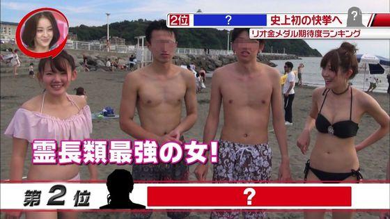 ビーチの水着姿ギャルが映ったテレビ番組キャプ 画像32枚 32