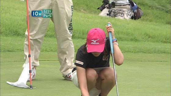 女子プロゴルファーのパンチラや太ももが気になるキャプ 画像45枚 22