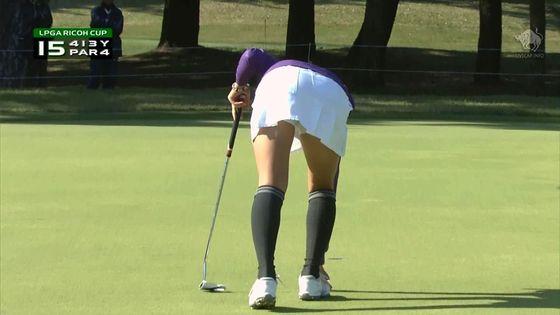女子プロゴルファーのパンチラや太ももが気になるキャプ 画像45枚 8