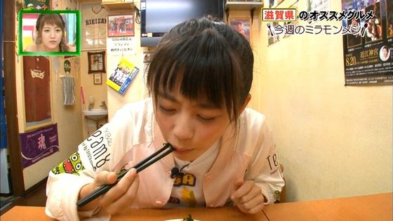 濵咲友菜 ミラモンメシのたこ焼き頬張り顔キャプ 画像30枚 14