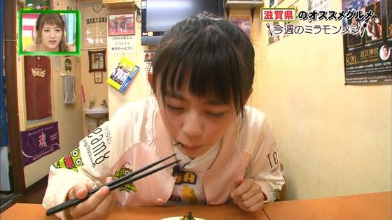 濵咲友菜 ミラモンメシのたこ焼き頬張り顔キャプ 画像30枚 15