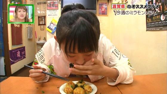 濵咲友菜 ミラモンメシのたこ焼き頬張り顔キャプ 画像30枚 17