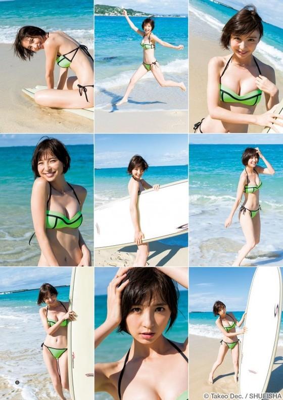 篠田麻里子 インスタで公開した現在のEカップ水着姿 画像10枚 2