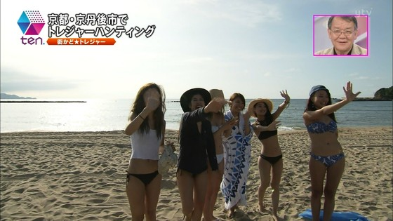 テレビ番組のロケで映った一般女性達の水着姿キャプ 画像32枚 15