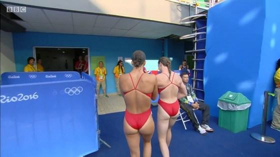 リオ五輪女子飛び込み選手の乳首ポチ&食い込みキャプ 画像32枚 11