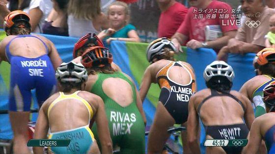 リオ五輪トライアスロン女子選手達の食い込みお尻キャプ 画像32枚 24