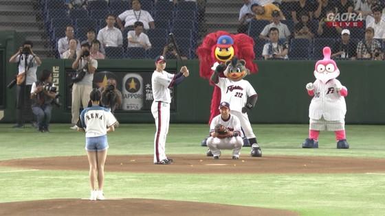 長谷川玲奈 プロ野球の始球式で披露した太ももキャプ 画像31枚 7