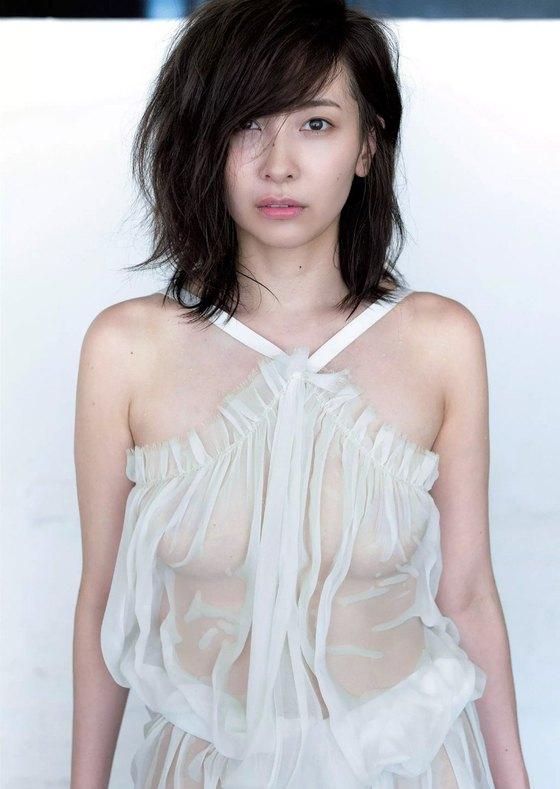 山崎真実 週プレのノーブラ乳輪透けセミヌード 画像26枚 6
