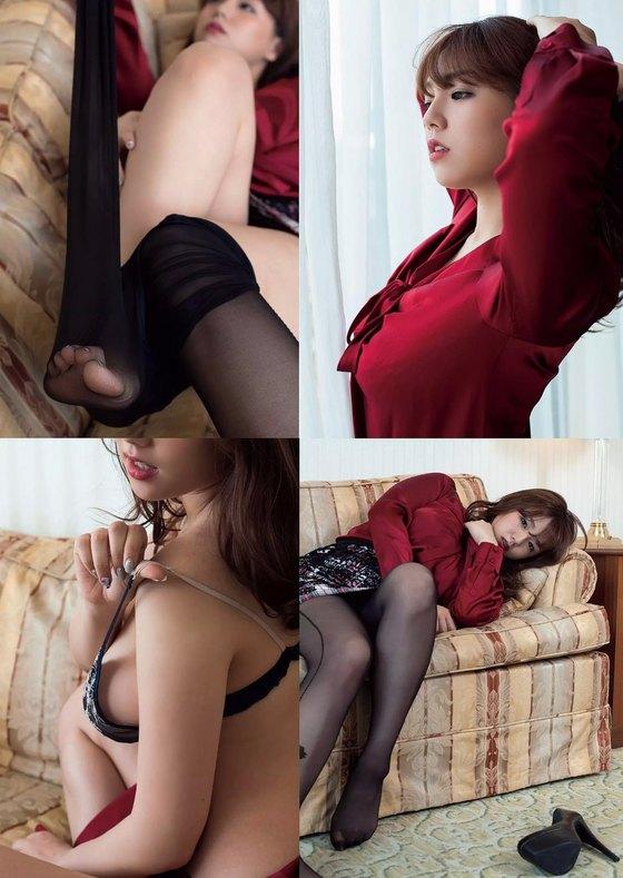篠崎愛 ヤングチャンピオンのGカップ爆乳最新ハミ乳 画像27枚 14