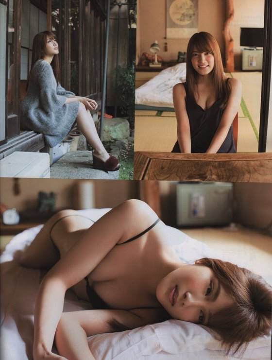 入山杏奈 EX大衆の水着姿Eカップ谷間最新グラビア 画像29枚 2