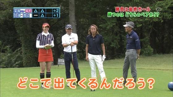 稲村亜美 ゴルフの真髄のムチムチ太もも&お尻キャプ 画像30枚 15