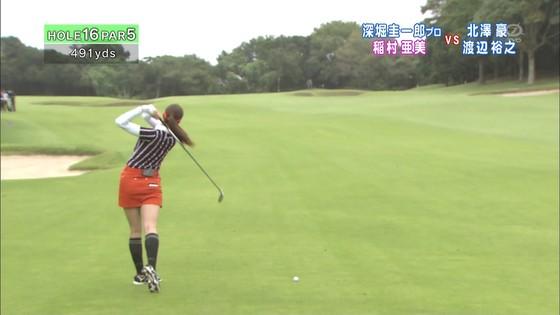 稲村亜美 ゴルフの真髄のムチムチ太もも&お尻キャプ 画像30枚 4
