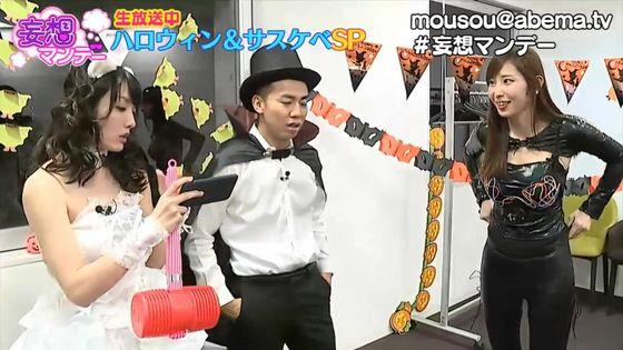 塩地美澄 妄想マンデーのボンデージコスプレGカップ谷間キャプ 画像23枚 3