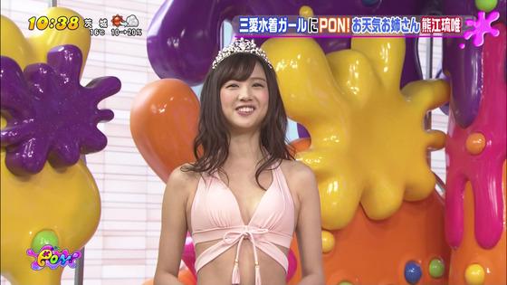 熊江琉唯 PON!のキュートな笑顔&Cカップ水着姿キャプ 画像31枚 30