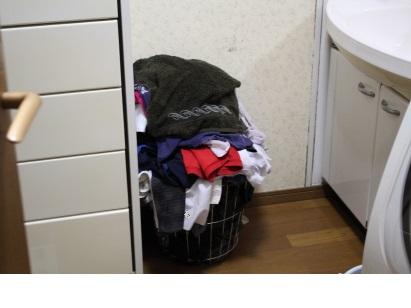 洗濯かご 加筆