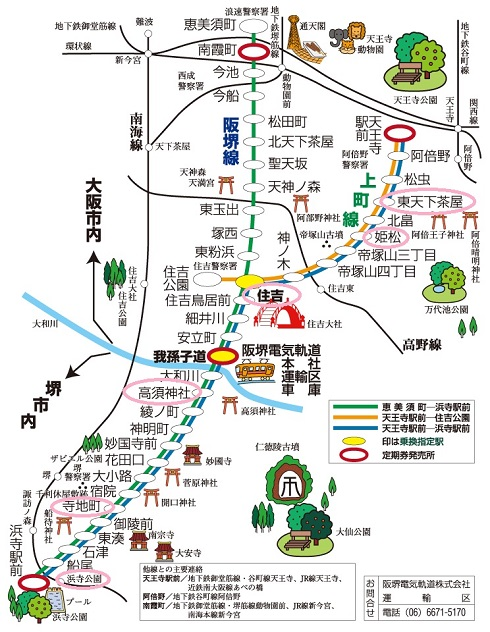阪堺線 路線図